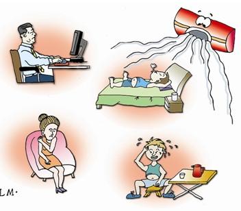 夏日吹空调如何保健养生  空调病 保健养生 喝水 第1张